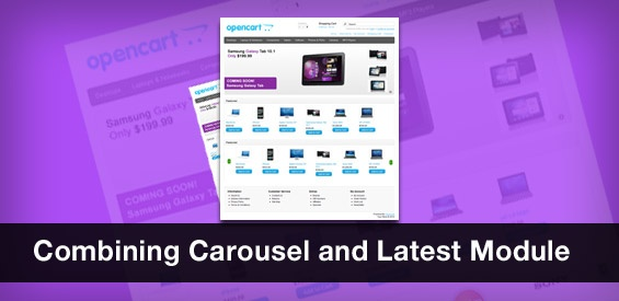 Combining Carousel and Latest Module
