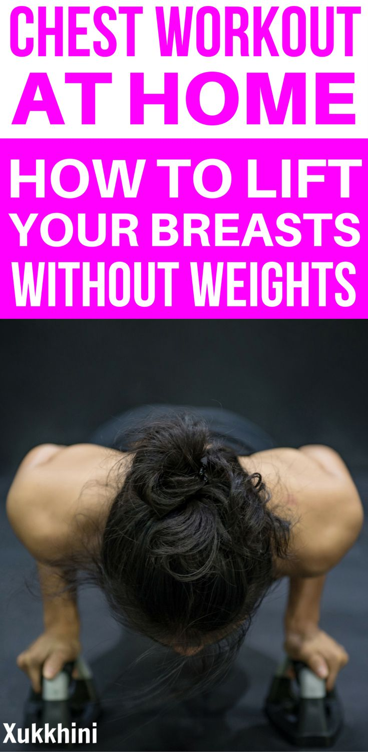 Need that lift?  Don't turn to the scalpel!  Instead, try this ultimate chest workout at home! Chest Workout at Home   Chest Workout to Lift Breasts   At Home Workouts   Home Workouts for Beginners.