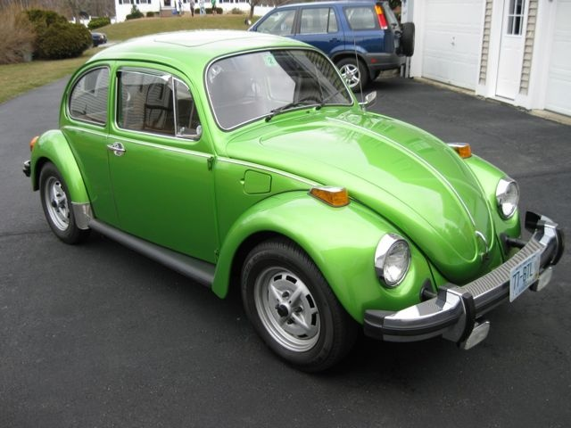 my dream car!!!! have always wanted a green 70's Beetle