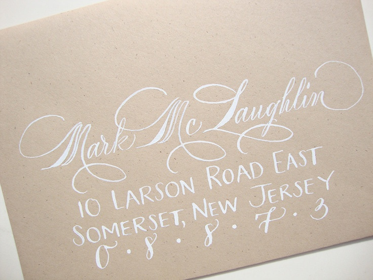 Pretty calligraphy lovely for addressing save the dates