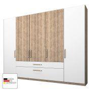 Home24 Angebote Kleiderschrank Lea mit Schubkästen- Eiche Sanremo hell/Alpinweiß - 250 cm (5-türig) - Ohne Spiegeltür/-en,…Ihr QuickBerater