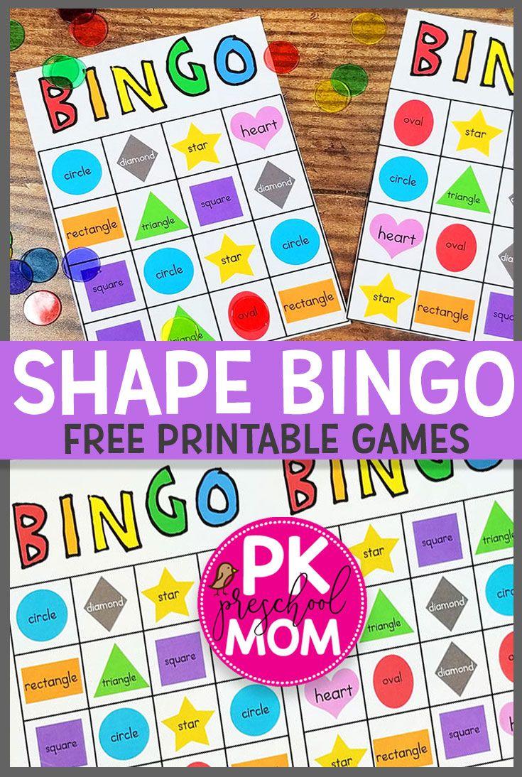 Shape Bingo Shape Activities Preschool Shapes Preschool Printables Shapes Preschool