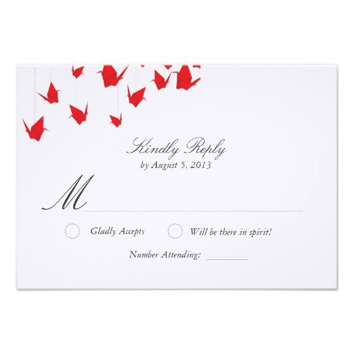 ShoppingOrigami Paper Cranes Wedding RSVP InvitationsIn our offer link above you will see
