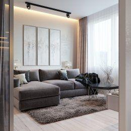 Студия LESH   Большой угловой диван позволяет с комфортом расположиться не только хозяевам, но и всем гостям