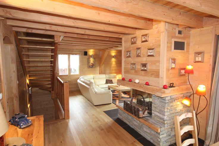 int rieur cocon et chaleureux d 39 un chalet lombard vasina photos d 39 int rieur de chalets et. Black Bedroom Furniture Sets. Home Design Ideas