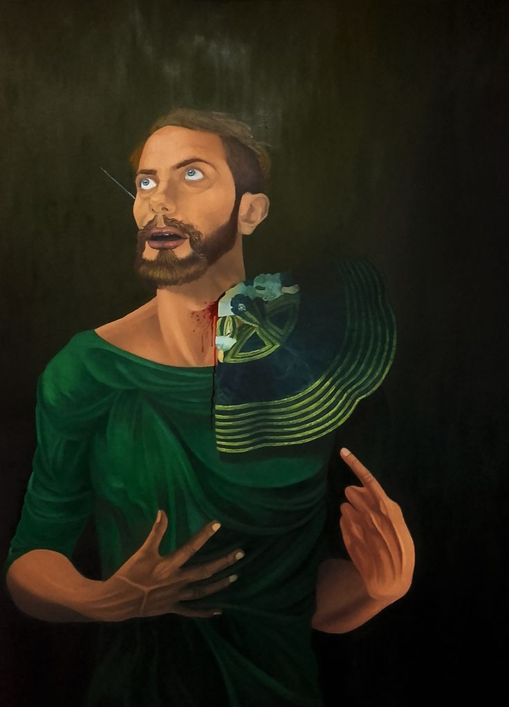 """Autorretrato español"" Oleo sobre lienzo Dimensiones: 130cm x 97cm (2015)"