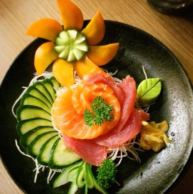 Flor de sashimi do Barko Sushi! (Porto Alegre, RS, Brasil)