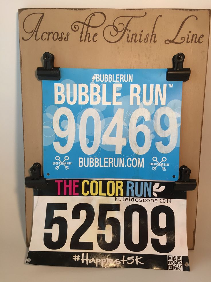 Race Bib Display with Two Sets of Clips by MamaGeppetto on Etsy https://www.etsy.com/listing/220258724/race-bib-display-with-two-sets-of-clips