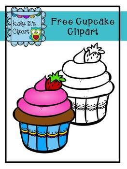 Free Cupcake Clipart by Kelly B.