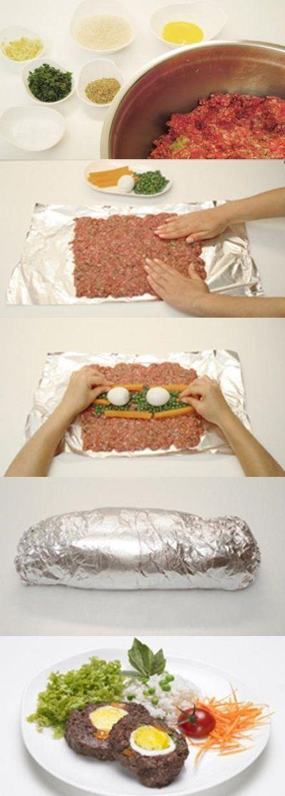 Intenta hacer rollos de carne rellenos de lo que se te antoje