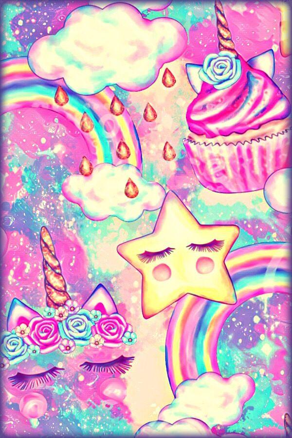 Unicorn Cake Galaxy Wallpaper Unicorn Wallpaper Rainbow Art Galaxy Wallpaper
