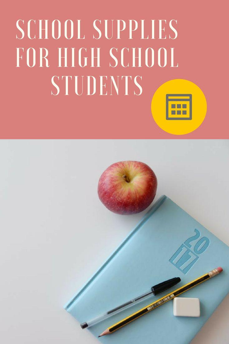 Essenital school supplies for high school students