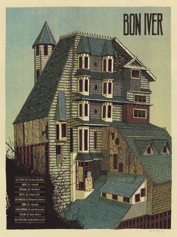 Bon Iver Poster (Spring 2012 U.S. Tour) - Landland