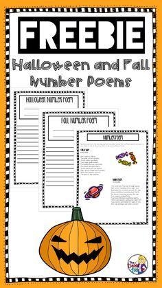 I love poetry and like to incorporate it throughout the year! This Number Poem Freebie is perfect for Fall or Halloween. Here's what is included: Number Poetry Directions and Examples Halloween Number Poem Student Writing Page Fall Number Poem Student Writing Page Teacher Notes