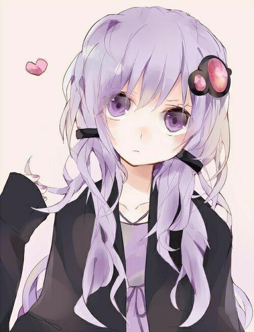 Resultado de imagem para anime cabelo lilas