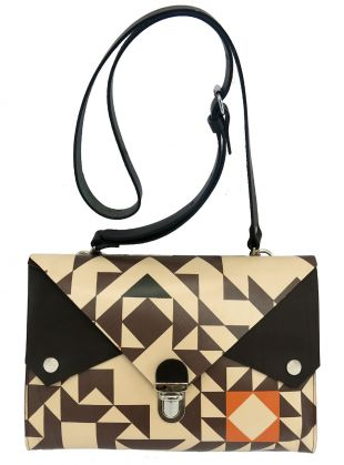 Young British Designers: Large Clutch/Cross-Body Tuck-Tite Bag by Kate Sheridan - Standout bag that is perfect to carry your life around in day in, day out. Gorgeously printed and structured to add a real pop of unique design to each new look.