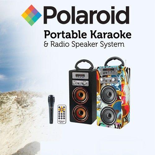 Polaroid Portable Karaoke and Radio Speaker System | Homemark | Your mark of quality