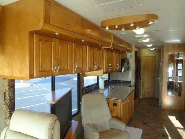 2008 Used Gulf Stream Tourmaster 40 Class A in Florida FL.Recreational Vehicle, rv, MOTIVATED SELLER! Low Mileage (29,600), like new condition with new tires; you can enjoy all the bells and whistles traveling around the country at a fraction of the cost! Full Body Paint w/double Clear Coat-Sonoma Red, 425 Cummings Engine, Freightliner Chassis, Allison 6 Speed Transmission, 2,000 Watt Inverter, 8.0 PowerTec Cat Generator, (3) roof A/C units, (2) 15,000 & (1) 13,500, (1) 40,000 BTU ducted…