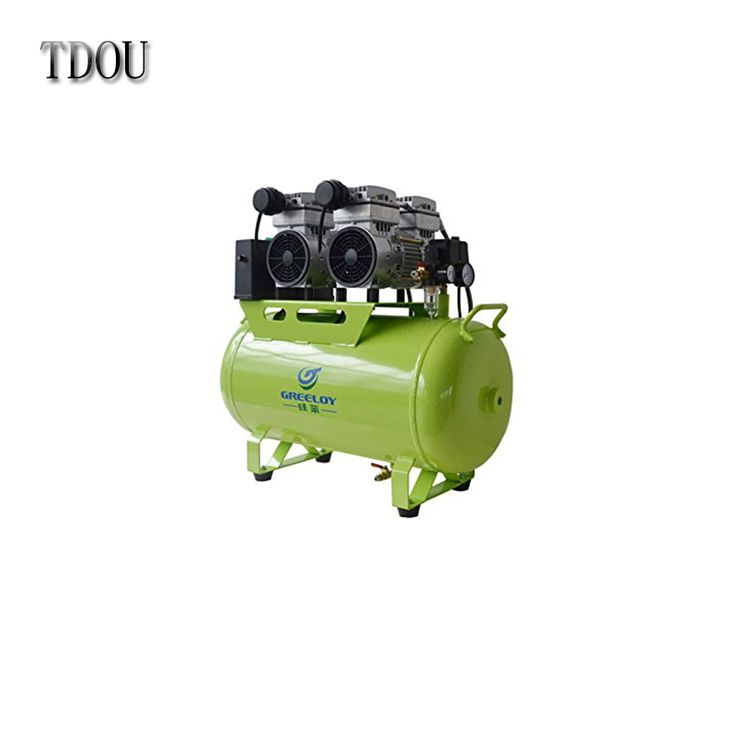 Silent Oil Free Oilless Air Compressor 60L Tank 1600w 310L/min TDOUBEAUTY-GA-82 One By Four for Dental Chair Free Shipping
