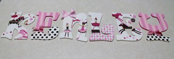 Bailarinas de color rosa y marrón de maestro de por KraftinMommy