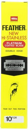 Feather Razor Blades New HiStainless Double Edge 200 Count ** Click image for more details.