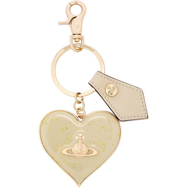 Vivienne Westwood Heart and orb keyring ($43) ❤ liked on Polyvore featuring accessories, heart key ring, vivienne westwood and heart shaped key ring