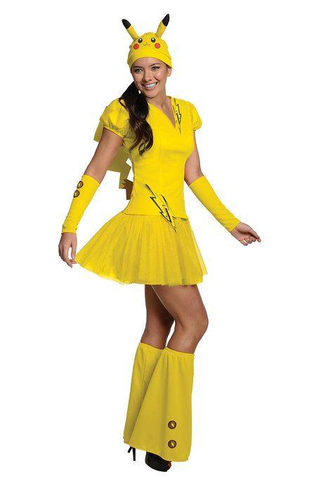 Secret Wishes Costume Pokémon, Female Pikachu, Yellow, Large