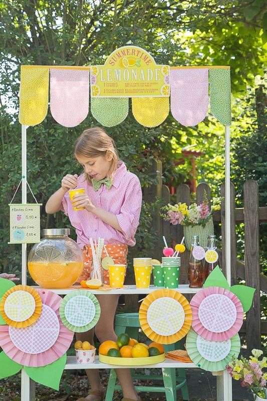 Sommerspaß für Kinder - Limonadenstand von www.pfefferminzgruen.blogspot.de