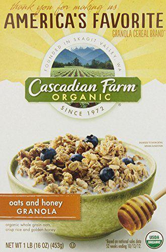 Cascadian Farm Organic Cereal, Oats & Honey Granola, 16 Oz - http://sleepychef.com/cascadian-farm-organic-cereal-oats-honey-granola-16-oz/