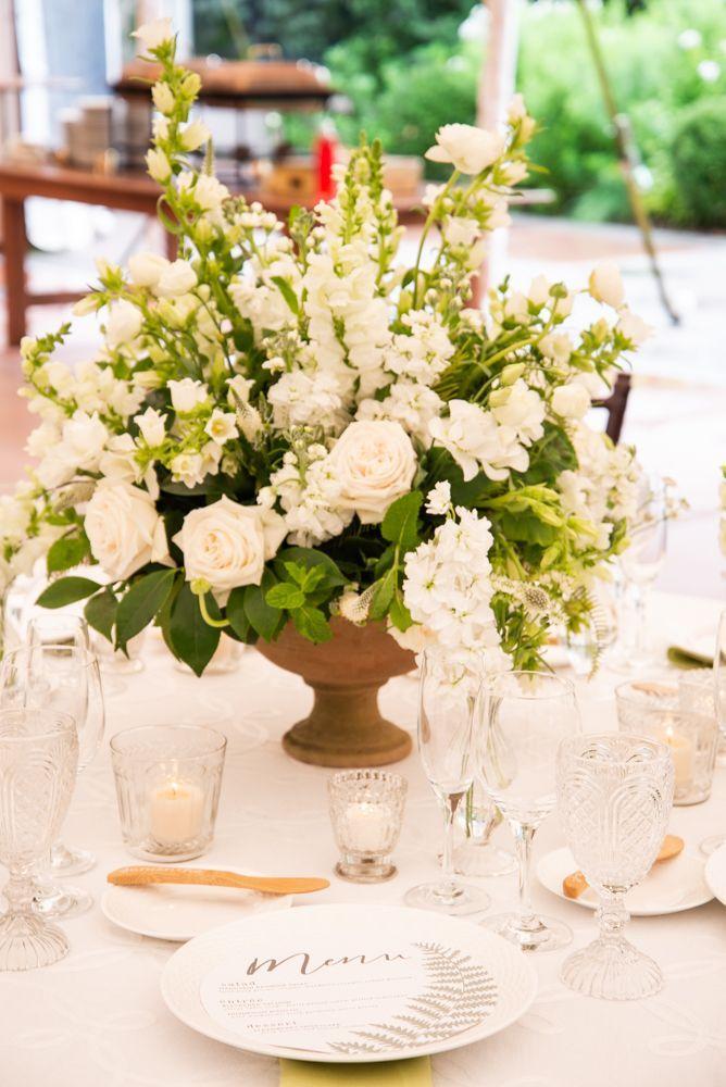 Tablescape Design For A Shower Celebration Or Reception White Floral Centerpiece C White Floral Centerpieces Willowdale Estate Wedding Floral Event Design