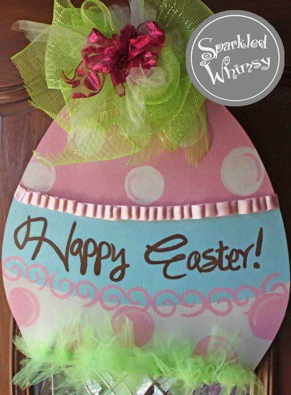 Easter Egg Door Hanger Sign
