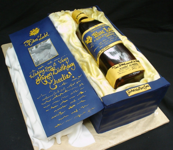 Blue Label Bottle Cake My Cake Creations Pinterest