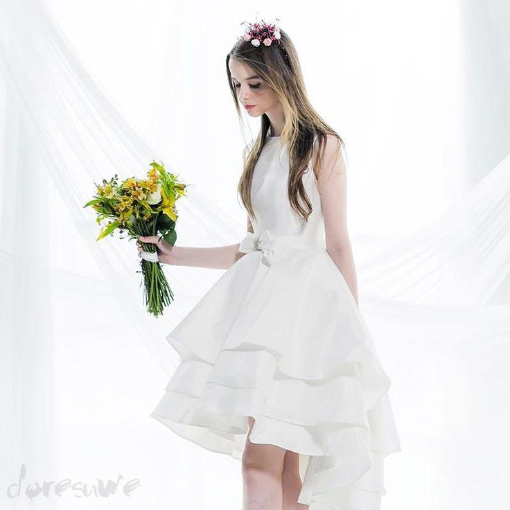 Doresuwe.com SUPPLIES 2015 非対称の蝶結び飾りの高級デザイン二次会ドレス 2016二次会ドレス (3)