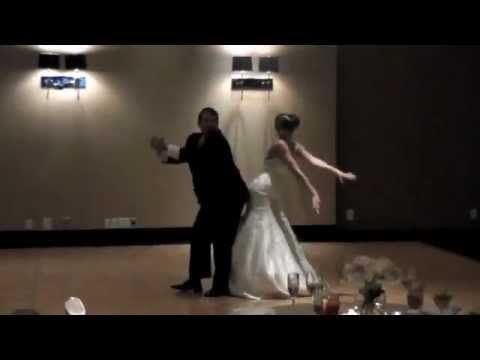 best father daughter wedding dance (dougie, wobble, stanky leg, bernie)