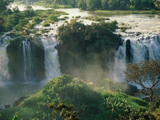 Blauwe Nijl Watervallen in Ethiopie