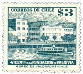 HISTORIA DE VALDIVIA - CHILE: FILATELIA DE VALDIVIA