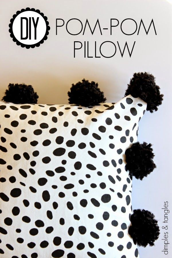 DIY POM POM PILLOW || How to make an easy pom pom