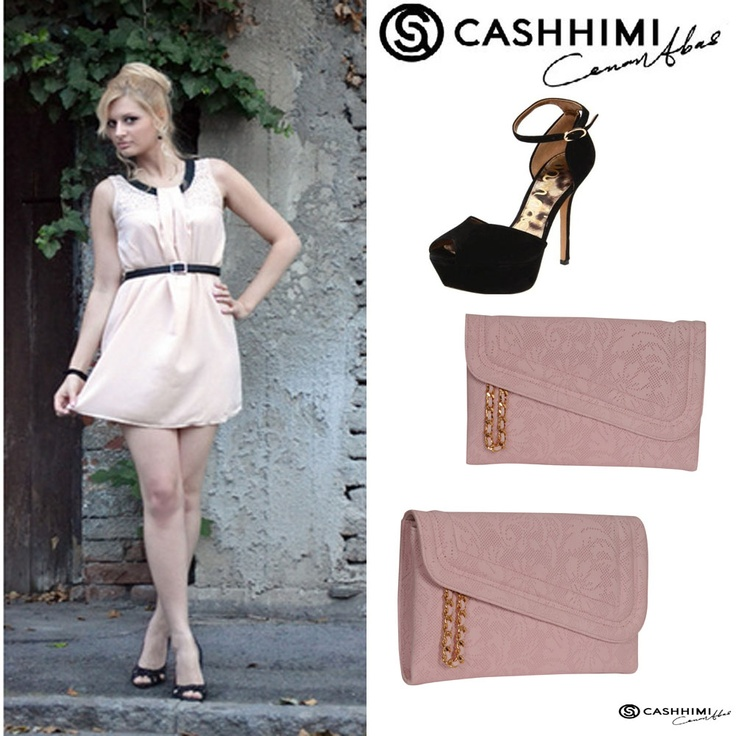 Cashhimi Brown Canon Leather Clutch.