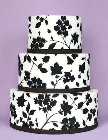 Gorgeous Black White Cake