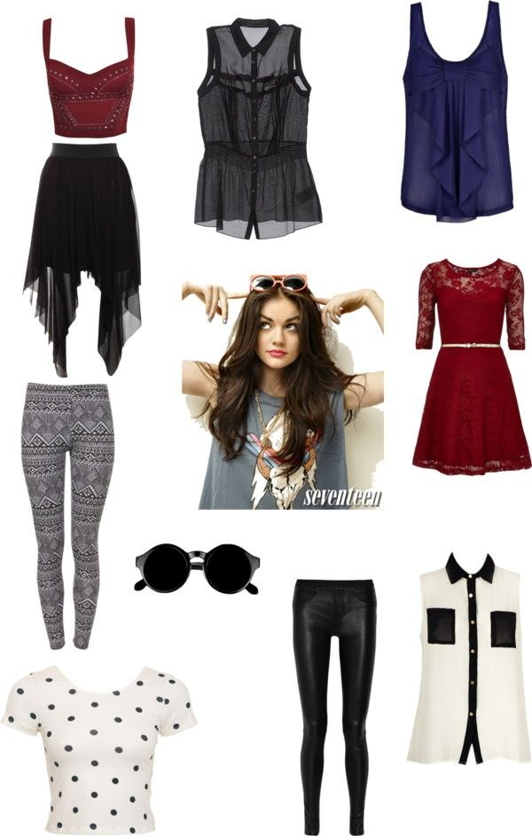 Aria Montgomery PLL by tslover13 ❤ liked on Polyvore