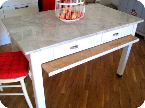 tavolo piano di marmo <3