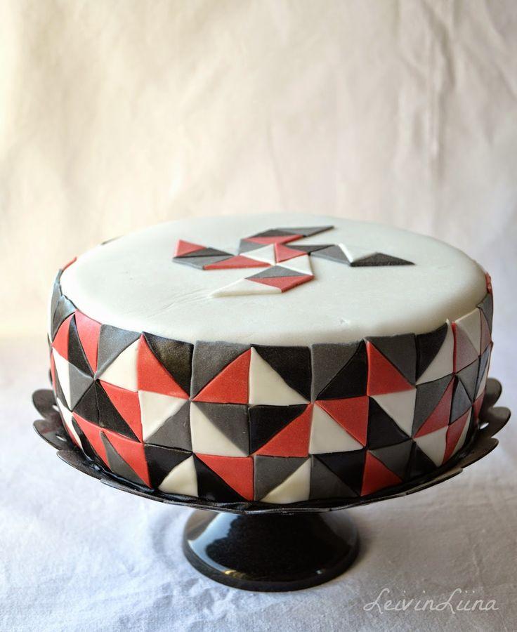 LeivinLiina: Geometrinen palapelikakku / Geometric Cake
