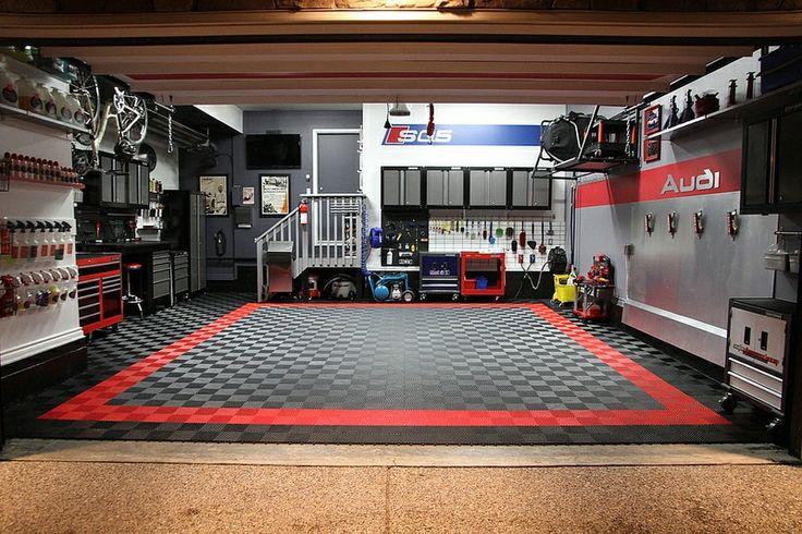 Sweet Audi garage   Garage Ideas en 2019   Garage workshop ...
