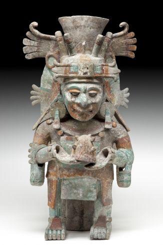 Brasero Chen Mul con Imagen de Itzamnaaj / Post Clasico Tardio, 1250-1521 DC / Mayapan, Yucatan / Maya