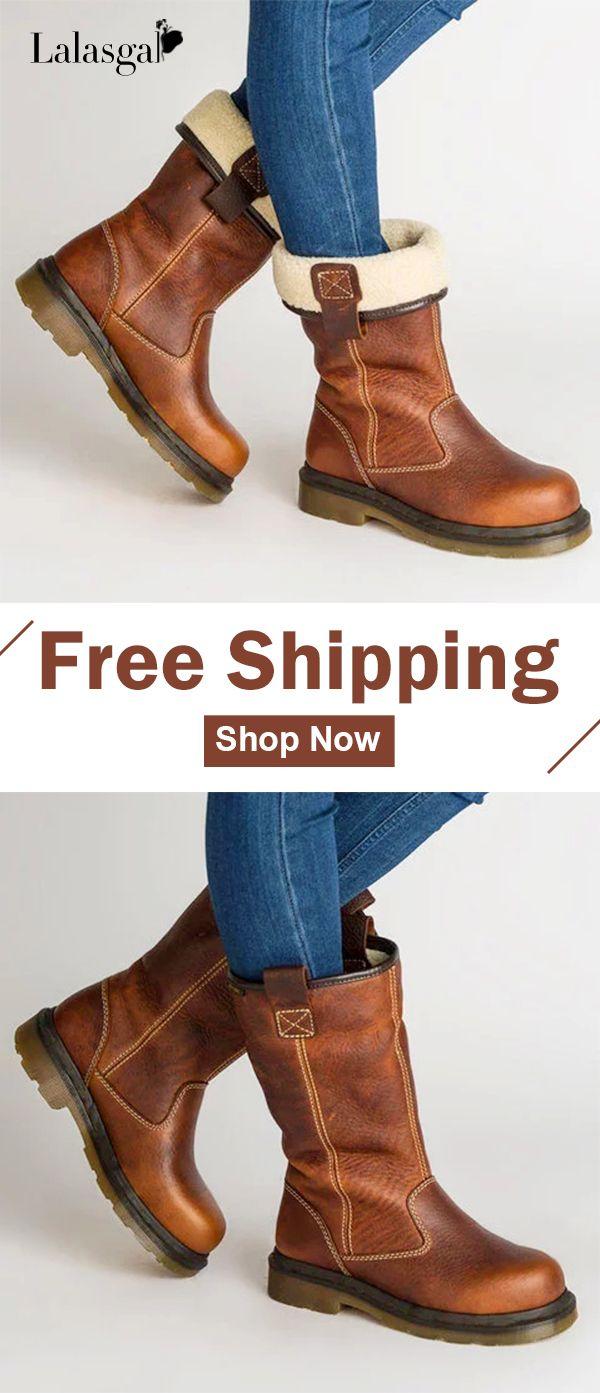 62.89 USD! Free Shipping! Shop Now! Women s Shoes Chunky Heel Fur ... 694be1f117e