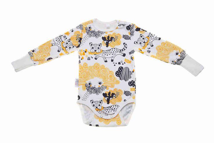 Pitkähihainen body, Karkulainen karkkimaassa, Keltainen - Melli EcoDesign - kotimaiset lastenvaatteet, ekologiset lastenvaatteet, keskosen vaatteet, vauva