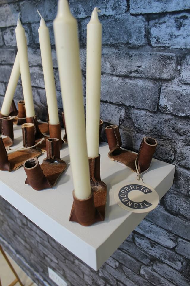Leather Candle holders