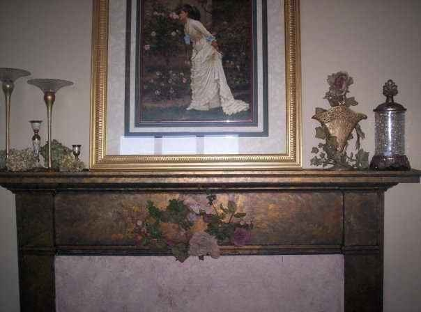 """Faux Finished Fireplace...Love It..""""Master Bedroom"""""""