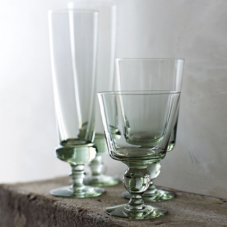 Swazi Recycled Footed Glassware - Set of 4 | Serena & Lily
