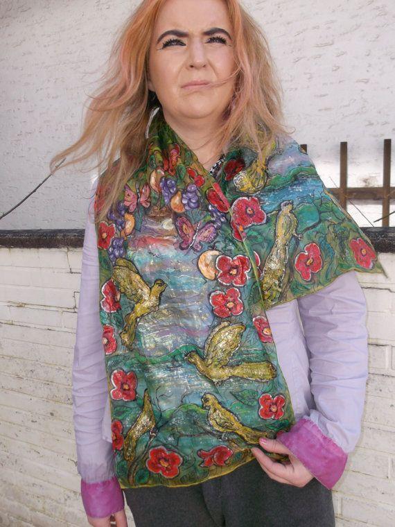 SALEhandpainted silk-scarf von aminamarei auf Etsy